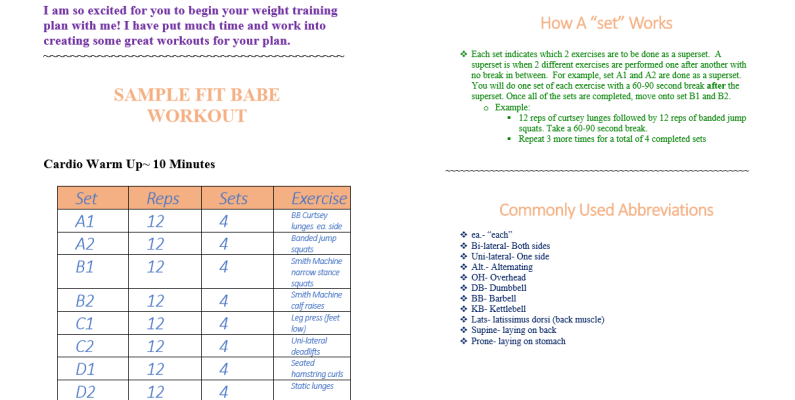 LWF Fitness Guide SC